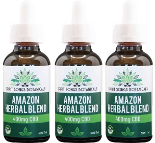 3 pack - Amazon Herbal Blend Oil with 400mg CBD